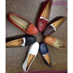 Giày mọi da nữ công sở kiểu dáng đơn giản sành điệu