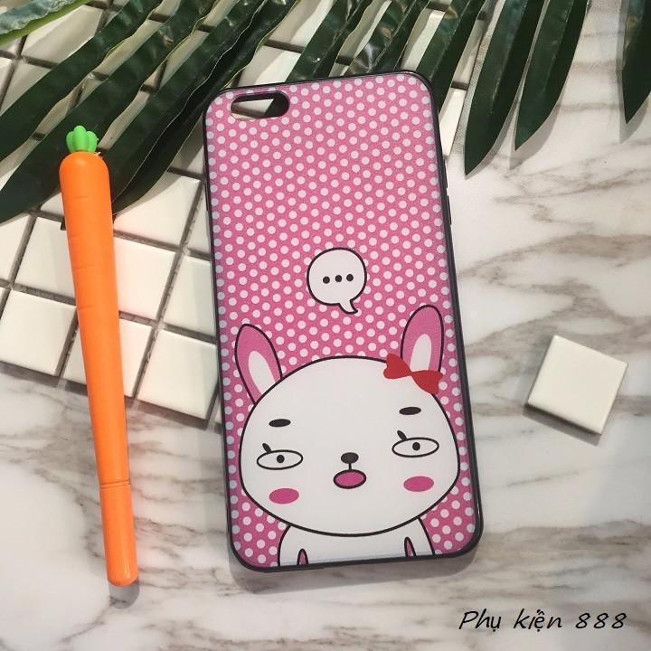 Ốp lưng Iphone 6 plus thỏ má hồng 1