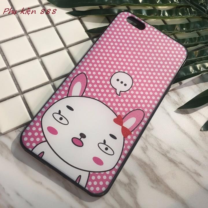 Ốp lưng Iphone 6 plus thỏ má hồng 7