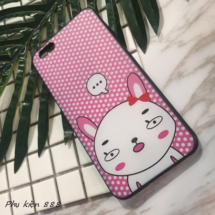 Ốp lưng Iphone 6 plus thỏ má hồng 3
