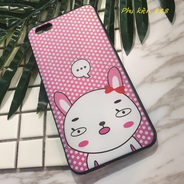 Ốp lưng Iphone 6 plus thỏ má hồng 5