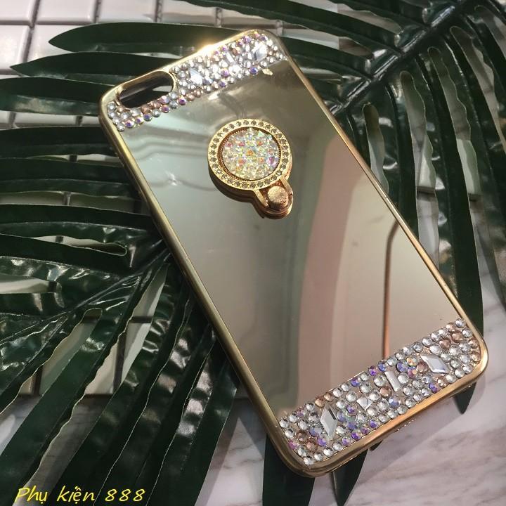 Ốp lưng Iphone 7 plus tráng gương kèm đá 1