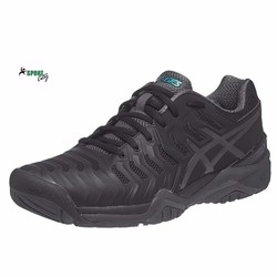 Giày tennis Asics Gel Resolution 7 BlackGreyGreen Mens Shoes