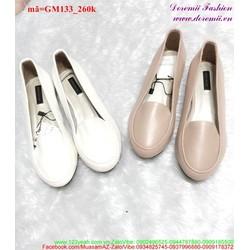 Giày mọi nữ trơn kiểu dáng đơn giản dễ thương