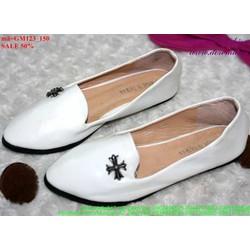 giày mọi da nữ đơn giản bền đẹp