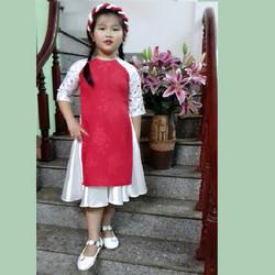 Áo dài bé gái 2-3 tuổi