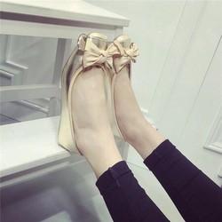 giày búp bê nơ cột
