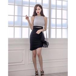 HÀNG NHẬP-ĐẦM BODY SEXY PHỐI MÀU SANG TRỌNG ST748