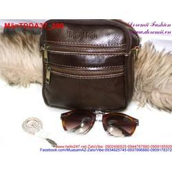 Túi đeo da mini 4 ngăn có quai xách tiện dụng
