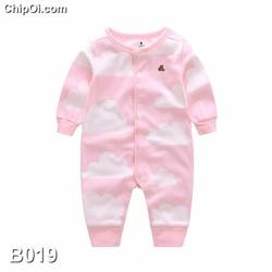 Bodysuit áo liền quần in hình đám mây dễ thương cho trẻ sơ sinh