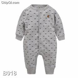 Bodysuit áo liền quần in họa tiết bộ râu dễ thương cho trẻ sơ sinh
