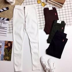 Quần jeans thun co giãn phối túi sau