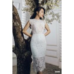 Đầm body ren trắng dễ thương 2166