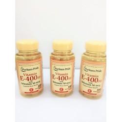 Vitamin E 400IU Puritans Pride chống chảy xệ da
