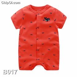 Bodysuit áo liền quần in hình chú cá voi dễ thương cho trẻ sơ sinh