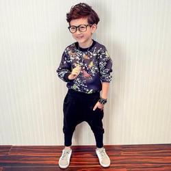 Set thun bé trai phong cách Hàn Quốc sành điệu