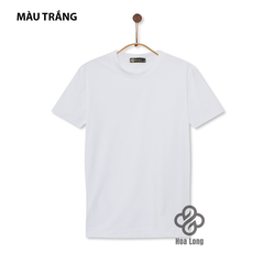 Áo Thun Nam, Nữ Cotton Co Giãn 4 Chiều Cổ Tròn Màu Trắng