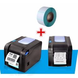 Máy in mã vạch, in hóa đơn K80 Xprinter XP370B tặng kèm 5 cuộn K80