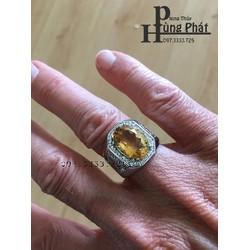Nhẫn Thạch Anh Vàng