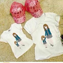 áo cặp mẹ và bé con xinh yêu