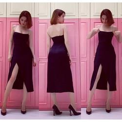HÀNG THIẾT KẾ-Đầm xẻ tà Ngọc Trinh thiết kế ôm body tuyệt đẹp