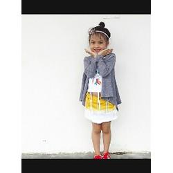 Váy jean bé gái nhúng màu sành điệu