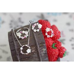 Bộ trang sức vòng hoa lá S925 cao cấp