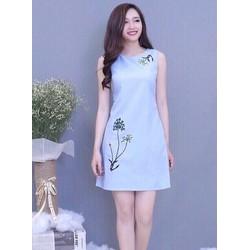 Đầm suông in họa tiết hoa HN11910