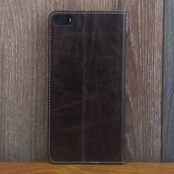 Bao Da B Phone 2017 Da Bò Màu Nâu Đỏ