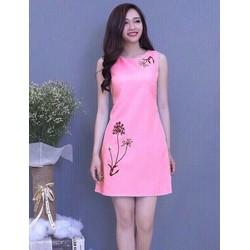 Đầm suông in họa tiết hoa HN11908