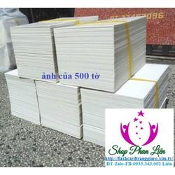 Flash card trắng học tiếng anh 1000 thẻ + 2 khoen tròn 2.5 cm