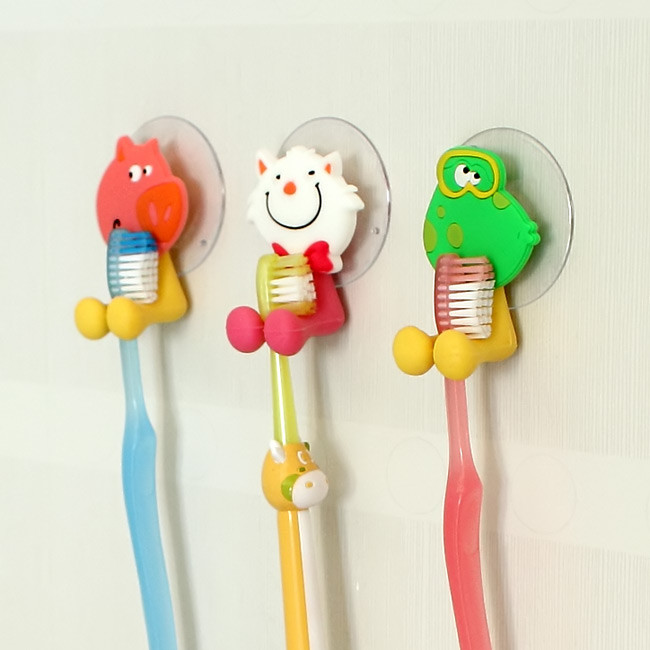 dụng cụ treo bàn chải đánh răng hình thú