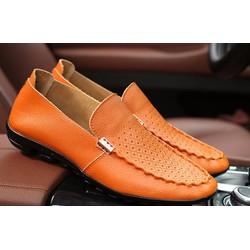 Giày da bò cao cấp - giày da thật - giày mọi nam - giày nam 2017