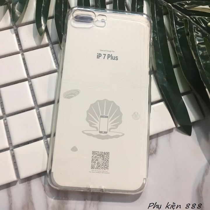 Ốp lưng Iphone 7 plus silicon dẻo trong suốt Vu Case 5