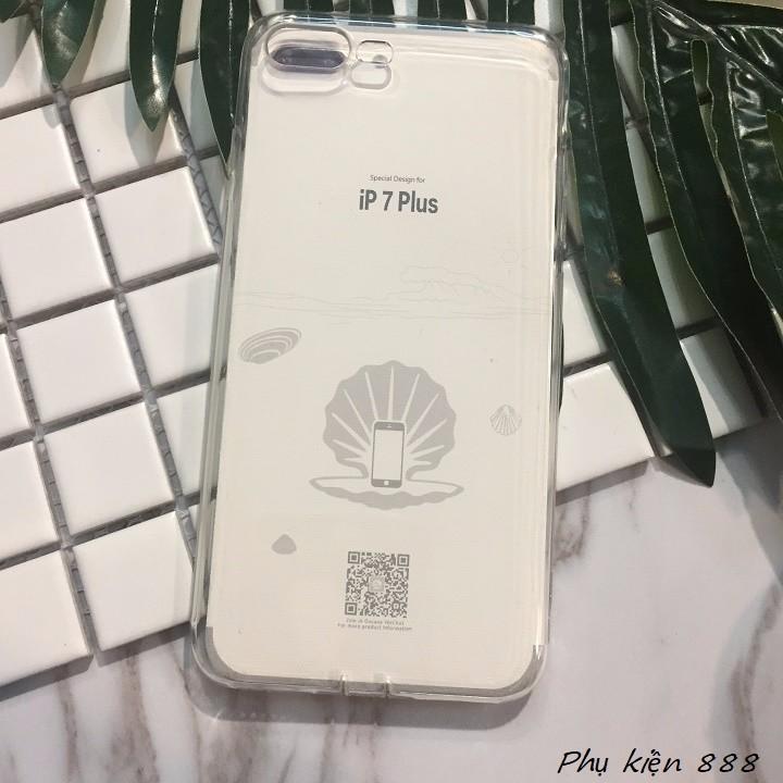Ốp lưng Iphone 7 plus silicon dẻo trong suốt Vu Case 3