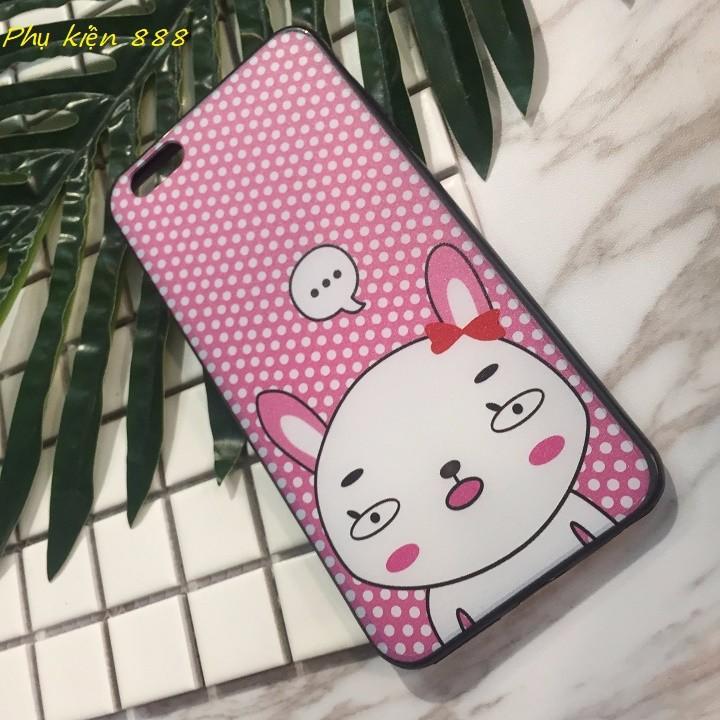 Ốp lưng Iphone 7 plus thỏ má hồng 3
