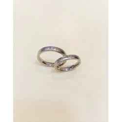 Nhẫn đôi đính đá