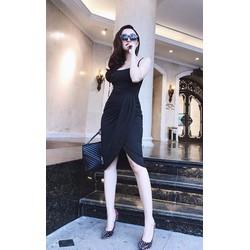 Đầm đen dự tiệc sang trọng thiết kế ôm body