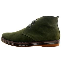 Giày da lộn cổ cao màu xanh rêu