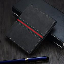 Ví da nam cao cấp SW phong cách Hàn Quốc kiểu ngắn mã kA006 màu đen