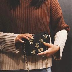 túi đeo chéo nữ ngôi sao khoá xoay chữ H