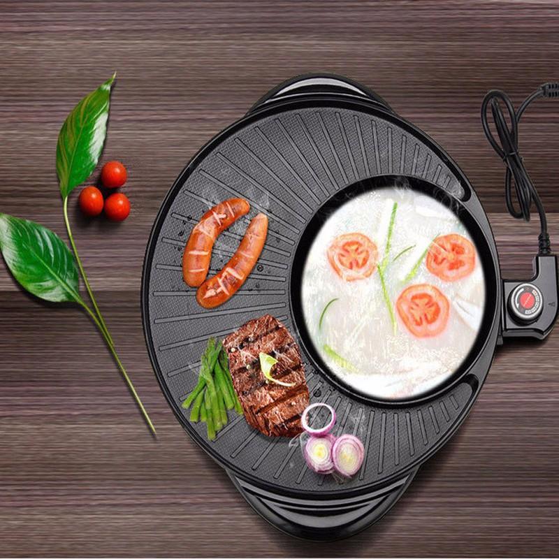 Nồi Lẩu Nướng Điện Đa Năng 2 Trong 1 Kiểu Hàn Quốc 1