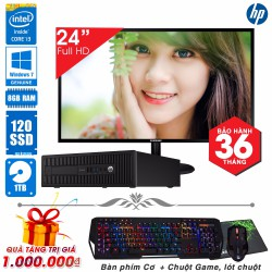 Máy tính đồng bộ HP  core i3 4130, Ram 8GB, SSD 120GB, HDD 1TB