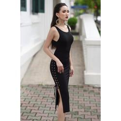 HÀNG CAO CẤP-Đầm xẻ tà dự tiệc đẹp thiết kế ôm body tôn dáng