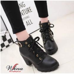 Giày boot gót vuông GB-807