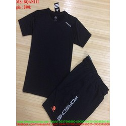 Bộ thể thao nam quần short logo porsche sành điệu BQAN111