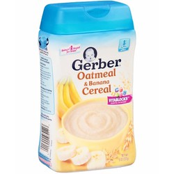 Bột Gerber vị Chuối - Yến Mạch