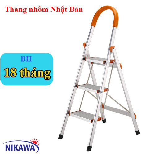 Thang nhôm ghế 3 bậc Nikawa Nhật Bản NKA-03