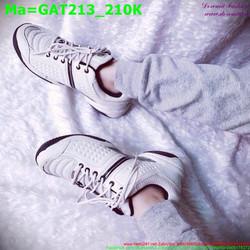 Giày thể thao nam cổ thấp màu trắng sành điệu