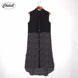 Đầm suống kiểu áo sơ mi cung cấp bởi Chibell